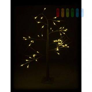 LED-Weihnachtsbaum von Christmas Gifts, biegsame Äste, Fuß fixierbar, 48 weiße LEDs, 230V/50Hz, Kabel ca. 3 m, Höhe ca. 120 cm