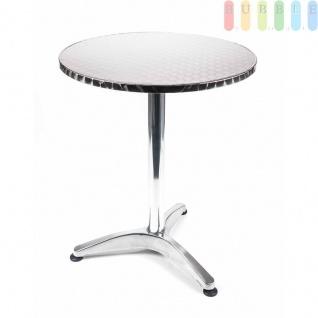 Steh- oder Bistro-Tisch von Lifetime Garden, Tischplatte klappbar, Höhe wählbar, Alu-Design kreismattiert, Größeca.75/114cm x 60cm - Vorschau 2