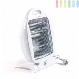 Quarz Wärmestrahler 400/800W, 2Heizstufen, klappbar, Griff integriert, weiß