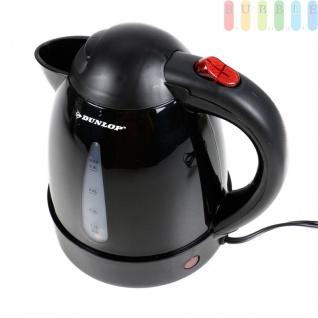 Elektrischer LKW-Wasserkocher von Dunlop für max. 0, 8 L, mit Filter, Abschaltautomatik, 24 Volt 250 Watt, schwarz