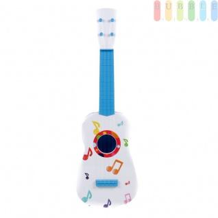 Kinder-Gitarre von Let's Play pre-school toys, Kunststoff, 4 Saiten, weiß/blau