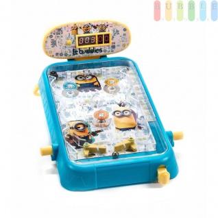 Flipper-Board für Kinder von Sambro, Design Minions, Souds, Punktstandanzeigedigital, Bumper gefedert undbeleuchtet, Größeca.22x31x14cm