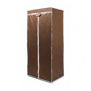 Faltkleiderschrank, 1 Kleiderstange, Steck-Montage, Größe 160 x 75 x 50 cm, Farbe Braun-Weiß