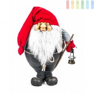 Weihnachtsmann / Nikolaus von Christmas Gifts, Laterne am Holzstab, Textil, Plüsch, Wichtel-Design, Höheca. 70 cm, Weihnachtsmann (Modell 1)