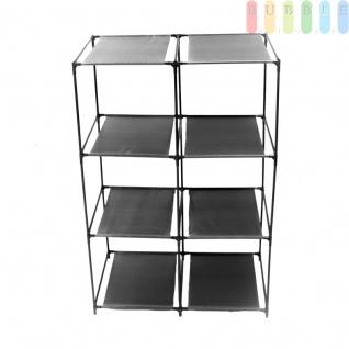 Organizer-System für Aufbewahrungsboxen, 6 Fächer, Metall, Vliesmaterial + Kunststoff, Montage ohne Werkzeug, Größepro Fach ca.35 x 35 x 35 cm, schwarz