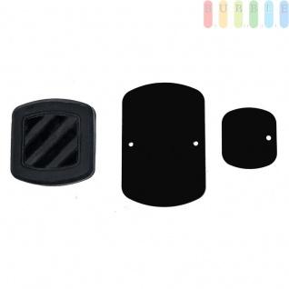 Magnethalter für Mobilgeräte von ALL Ride, Oberflächenmontage, Hitzeresistent, selbstklebend, 360°drehbar, 3-teilig - Vorschau 4