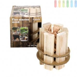 Feueranzünder aus Holz für Camping, Grillfeste, Feuerkörbe, Feuerstellen und Kamine, ökologisch, 1 Stück