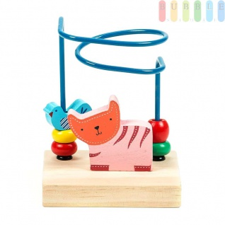 Motorikschleife Mini von Marionette für Kleinkinder, Design Zoo, bunt, 10x 7, 5x14cm, Tiger