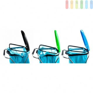 Müllsackständer, mobil, Doppelrahmen, Säcke von 60 bis 130 l Volumen, lieferbar in den Farben Schwarz, Grün oder Blau - Vorschau 5