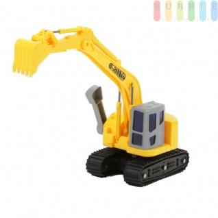 Spielzeug-Bagger für Kinder von Gear Box, Baggerschaufel und Arm manuell hochstellbar und kippbar, Führerhaus mit Schaufel um 360° drehbar, Maßstab 1:16