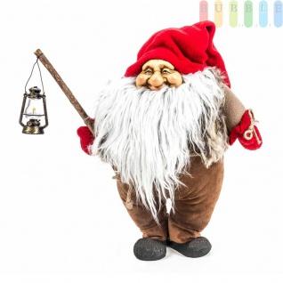 Weihnachtsmann / Nikolaus von Christmas Gifts, Laterne am Holzstab, Textil, Plüsch, Wichtel-Design, Höheca. 36 cm, Weihnachtsmann (Modell 2)