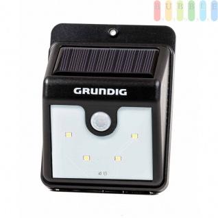 Solar-LED-Nachtlicht von Grundig, Dämmerungs- und Bewegungssensor, Montage einfach, kabellos, solarbetrieben, 40Lumen, 4SMD-LEDs