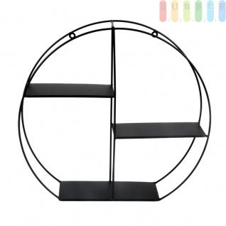 Metall-Wandregal von Arti Casa, 3Ablagen, freistehend, Aufhänger für Wandbefestigung, Industrial Design, schwarz, Höhe ca. 36, 5 cm