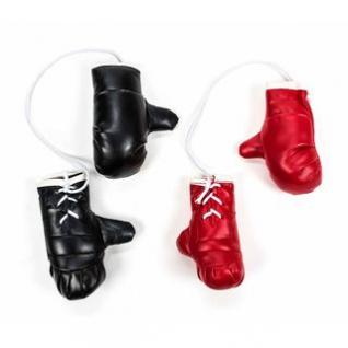 Mini-Boxhandschuhe von ALL Ride, witzig-sportliche Dekoration, Rückspiegel im Auto, Kunstleder, schlicht, Größe ca. 8, 5 cm, lieferbar in den Farben Schwarz oder Rot