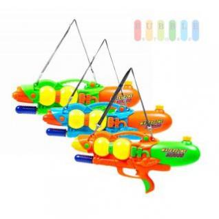 Wasserpistole XL 3000 von Waterzone mit Schultergurt, integrierter Griff, Druck-Handpumpe, lieferbar in den Farben Orange, Grün oder Blau