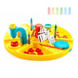 Play Doh Kreativstation vom Sambro, 2 x Knetmasse, Spieltisch mit Pressen, Formen und viel Zubehör