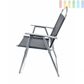 Campingstuhl von Lifetime Garden, Metallgestell, Textilbespannung, Design modern, faltbar, Gewichtca.3, 75kg, Farbe Schwarz - Vorschau 2
