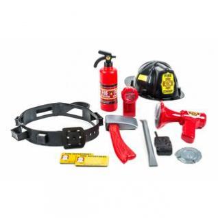 Spiel-Set Feuerwehrmann von Eddy Toys mit Helm und Gürtel, Taschenlampe, Batteriebetrieb, 12-teilig