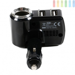 Steckdose mit 2-fach USB-Stecker von All Ride für PKW und LKW, LED-Anzeige für Ladestatus, 90° Gelenk, 12/24V, max. 5A - Vorschau 2