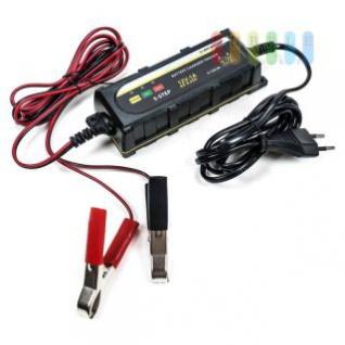 Batterielade-/ Wartungsgerät von Dunlop, wasserdichtes ABS-Gehäuse, Überhitzungsschutz, Verpolschutz, intelligent und vielseitig, Kapazität 4 bis 120 Ah