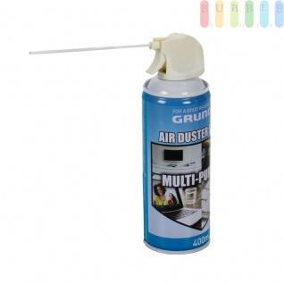 Air Duster Reinigungsspray, viele Anwendungsmöglichkeiten, Druckluftspray entfernt Staub und Schmutz von Laptops, Tastaturen, Fernsehern und vielem mehr, Inhalt ca. 400 ml , Grundpreis: 12.47 € pro 1 l