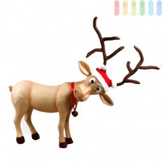 Ihr Weihnachts-Outfit mit Rentier-Geweih QHP Rentiermütze für den Reithelm