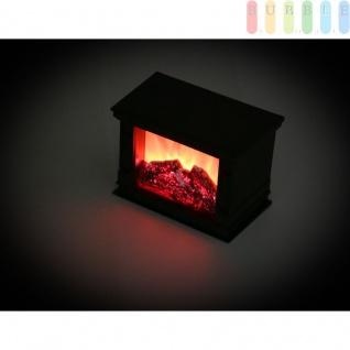Deko Kamin mit flackernder Flamme von Grundig, Lampe in Kamin-Optik, batteriebetrieben, An/Aus-Schalter, 6 Std.-Timer, Höhe ca. 13 cm, Farbe Schwarz