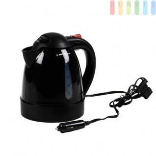 Elektrischer Auto-Wasserkocher ohne Heizspirale von Dunlop, Automatikschalter, Trockengehschutz, Überhitzungsschutz, Volumen 0, 8Liter, 12 Volt 150 Watt