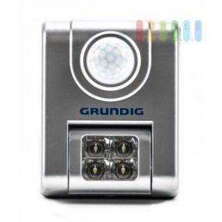 Sensor-LED-Leuchte von Grundig, 4 LEDS, 90°-schwenkbar, Batteriebetrieb, selbstklebend oder Hakenmontage, Größe ca. 6 x 8, 5 x 3 cm