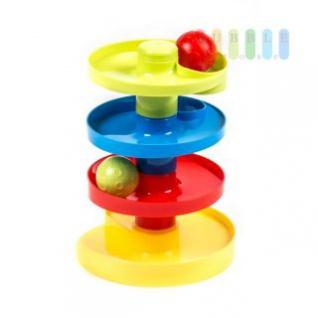 Ballturm / Kugelbahn von Let`s Play 4 Ebenen, Montage individuell, 2 Bälle, bunt, Höhe ca. 23 cm