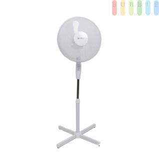 42 Watt Standventilator Oszillierend Ventilator Windmaschine Höhenverstellbar von ca. 105 - 128 cm, weiß