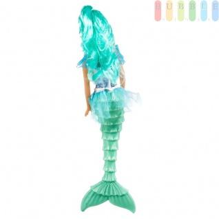 Meerjungfrau-Modepuppe von EDDY TOYs mit 2-teiligem Zubehör, Größeca.29cm, Farbe Türkis - Vorschau 2