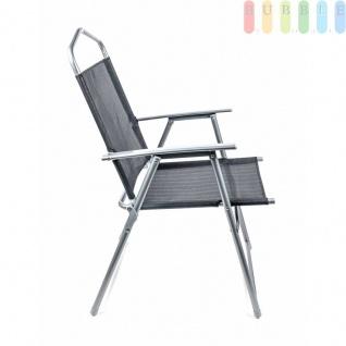 Campingstuhl von Lifetime Garden, Metallgestell, Textilbespannung, Design modern, faltbar, Gewichtca.3, 75kg, Farbe Schwarz - Vorschau 4