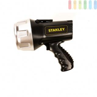 Handscheinwerfer SL5HSE von Stanley, 5W-LED + 8 Flächenleds, Pistolengriff, An/Aus-Schalter mit 4 Funktionen, Batterie-Ladestatus-LED-Anzeige, wiederaufladbare Lithium-Ionen-Batterie, 1000 Lumen