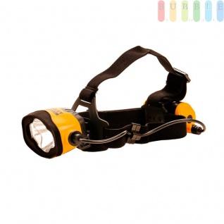 Stirnlampe, Kopflampe Fatmax von Stanley mit 7 Leds, 4 Lichteinstellungen, Sicherheitsblinklicht hinten, elastisches Kopfband, größenverstellbar, wasserdicht, bruchsicher, batteriebetrieben