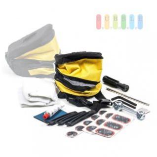 Fahrrad-Reparatur-Set von Bicycle Gear, Tasche, Reifenheber, Knochen, Flicken, Kleber, 24-teilig