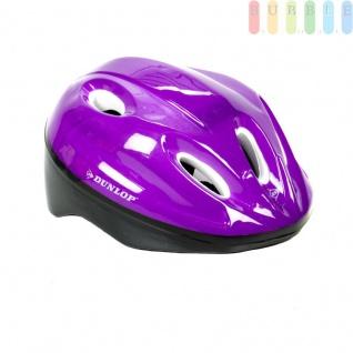 Kinderhelm Fahrradhelm für Kinder, Schutzhelm universell anpassbar durch 18 Schaumstoff-Pads in diversen Stärken, Farbe violett