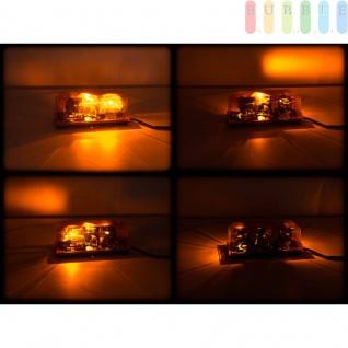Doppel-Warnleuchte von ALL Ride, magnetisch, E13 Freigabe, 2Drehspiegellampen, 3mSpiralkabel, 24V - Vorschau 5
