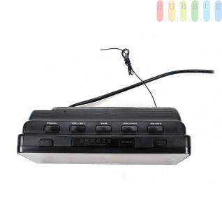Radiowecker von Dunlop, Display besonders groß, 10 Speicherplätze, Snooze-Taste, Sleep-Funktion, Oldschool-Design, Farbe Schwarz - Vorschau 4