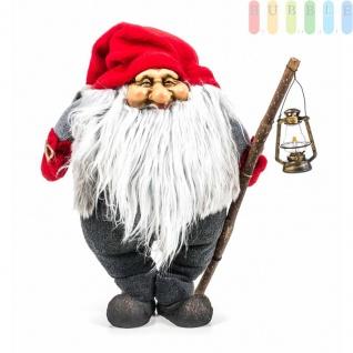 Weihnachtsmann / Nikolaus von Christmas Gifts, Laterne am Holzstab, Textil, Plüsch, Wichtel-Design, Höheca. 36 cm, Weihnachtsmann (Modell 1)