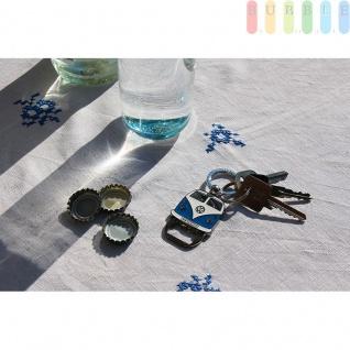 VW T1 Bus Schlüsselanhänger mit Flaschenöffner, Front-Design, Sammlerstück aus VW-Kollektion, Zink-Aluminium vernickelt, emailliert, blau - Vorschau 2