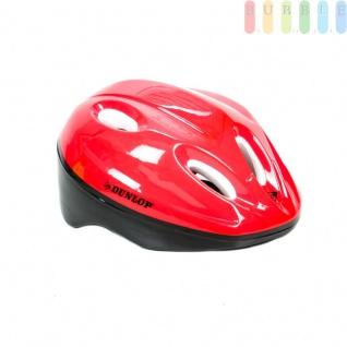 Kinderhelm Fahrradhelm für Kinder, Schutzhelm universell anpassbar durch 18 Schaumstoff-Pads in diversen Stärken, Farbe rot