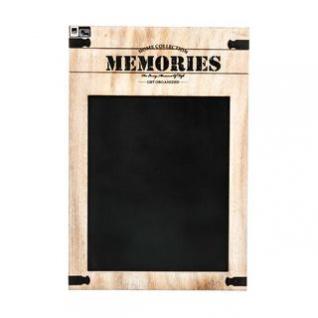 Memotafel / Memobord von Arti Casa aus Holz, Metall-Beschlag, Tafelfläche, 2 Aufhänger, Vintage-Design, Größe 34 x 50 x 1 cm