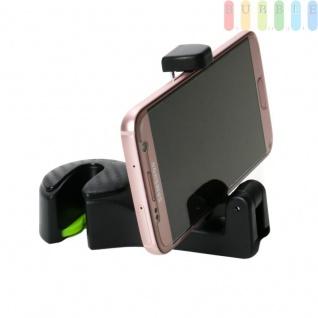 2-in-1 Handyhalterung für die Auto Kopfstütze, für Handys von ca. 5, 5 bis ca. 9 cm Breite, Halterung klappbar, mit Aufhänger, robuster Kunststoff