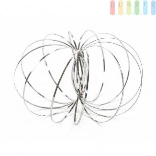 Flow Ring von ToiToys, Spiraleaus Edelstahl, kinetischesSpielzeug, entspannend oder interaktiv ?ca.13cm