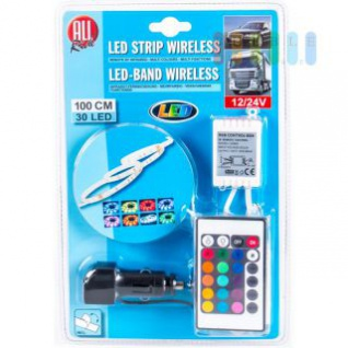 LED-Deko-Band ALL Ride mit Fernbedienung, mehrfarbig, multifunktional, 12/24V (Stecker), 30 LEDs, 100 cm