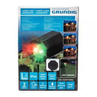 Laser-Gartenlicht von Grundig, 3 Optionen, Ein/Aus-Sensor, Outdoor, Erdspieß, Montagefuß, Netzteil, witterungsbeständig, Höhe ca. 27 cm