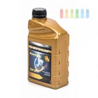 Motoröl von Dunlop 5W-30 für Diesel- und Benzin-Fahrzeuge, vollsynthetisch, Griffmulde, Skala, Inhalt 1 Liter