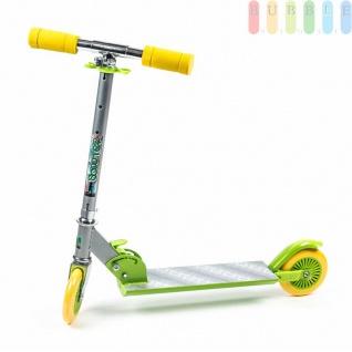 Kinder-City-Roller von EDDY TOYs, klappbar, Bremse hinten, ABEC5-Kugellager, Größeca.66x9, 5x71cm, Farbe Gelb