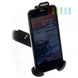 Handyhalter Grundig mit USB-Adapter, Kontrollleuchte, 12/24V, 5A (1A)